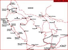 Darjeeling Map  » Click to zoom ->