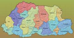 Bhutan Map  » Click to zoom ->