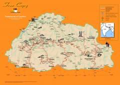 Bhutan Tourism Map  » Click to zoom ->